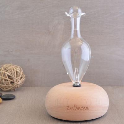 Diffuseur d'huiles essentielles BAO diffusion à froid système Venturi éclairage LED fonction minuterie verrerie artisanale