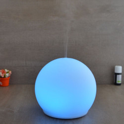 Brumisateur diffuseur ultrasons huiles essentielles à froid silencieux nébulisation senteurs vertus bienfaisantes dome verre