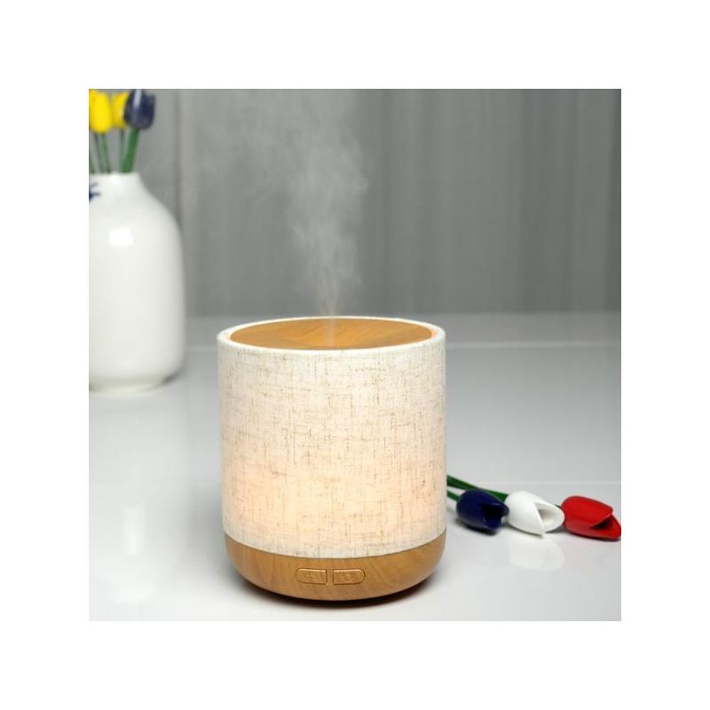 Brumisateur diffuseur ultrasons huiles essentielles à froid silencieux nébulisation senteurs vertus bienfaisantes textile