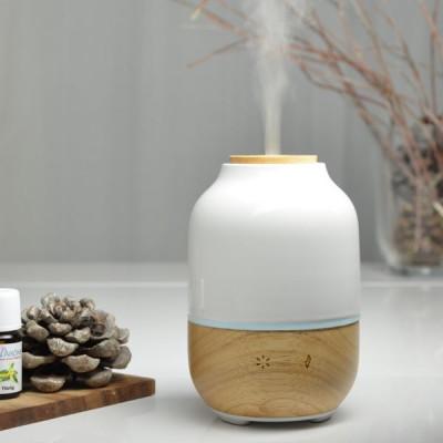 Brumisateur diffuseur ultrasons huiles essentielles à froid silencieux nébulisation senteurs vertus bienfaisantes bois verre
