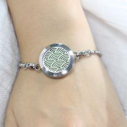 Bijoux bracelet d'aromathérapie anti-stress personnel huiles essentielles extraits de parfum air délicatement parfumée