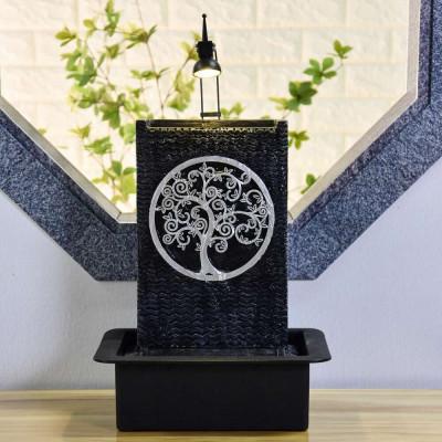 Fontaine d'intérieur Zenitude Arbre de Vie atmosphère zen relaxation détente Mur d'eau décoration éclairage LED