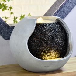 Fontaine extérieur grande taille Moderne Andy atmosphère zen relaxation détente Mur d'eau décoration éclairage LED