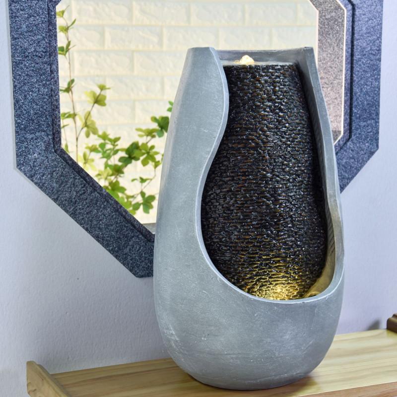 Fontaine grande taille Moderne Molly atmosphère zen relaxation détente Mur d'eau décoration éclairage LED