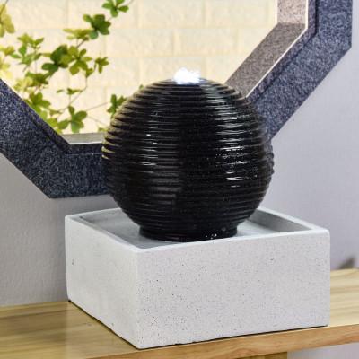 Fontaine grande taille Moderne Bonny atmosphère zen relaxation détente Mur d'eau décoration éclairage LED