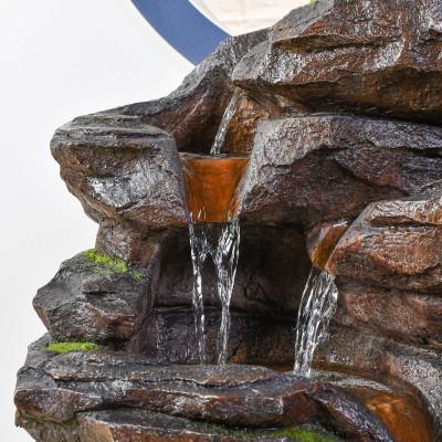 Fontaine Grande Fontaine Niagara atmosphère zen relaxation détente Mur d'eau décoration éclairage LED