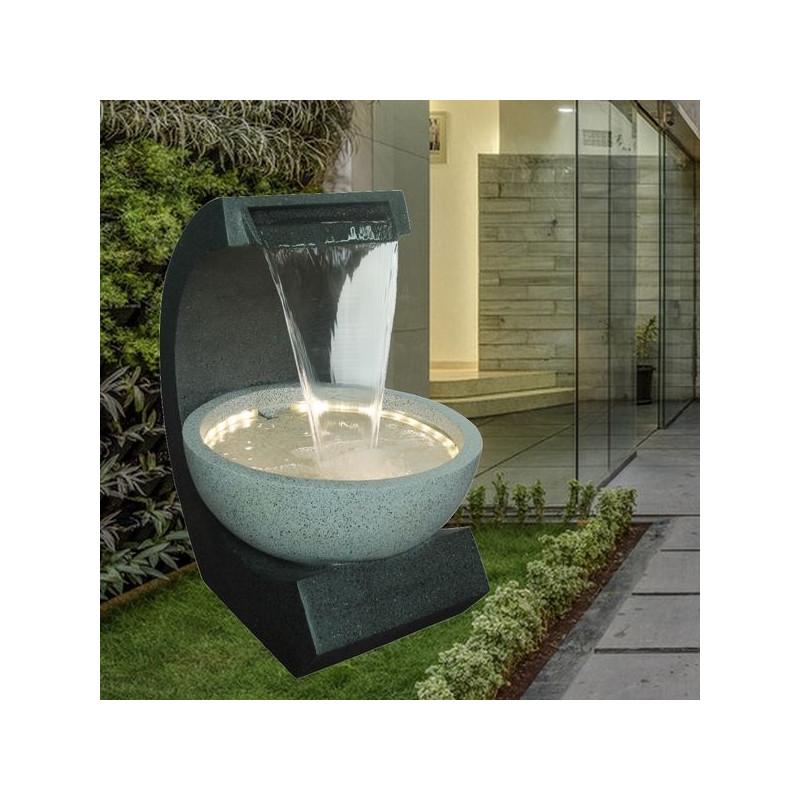 Grande Fontaine XL Ridodo atmosphère zen relaxation détente Mur d'eau décoration éclairage LED