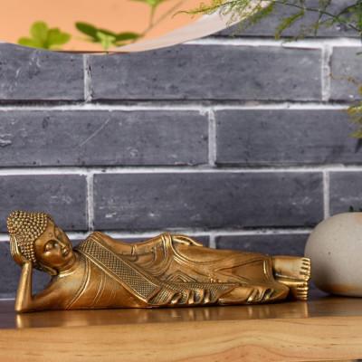 Statue Bouddha Thai Couché Feng Shui, grand symbole de soutien, de protection, de joie et d'équilibre spirituel