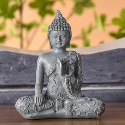 statue feng shui bouddha méditation statuette décoration zen ambiance fontaine